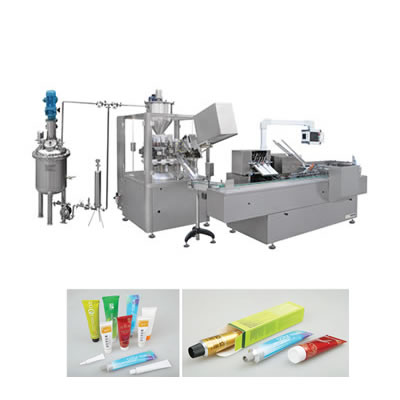 Automatic Tube Filling and Sealing Cartoning Packing Production Line